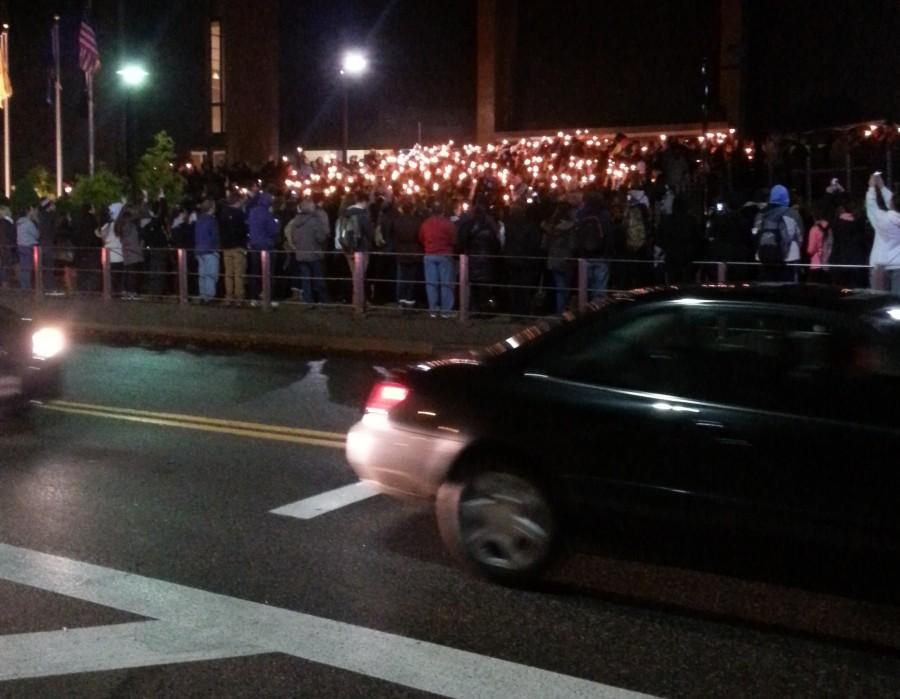 Candlelight vigil for Shane Montgomery